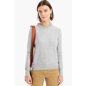 J.Crew ruffle -neck pullover sweater
